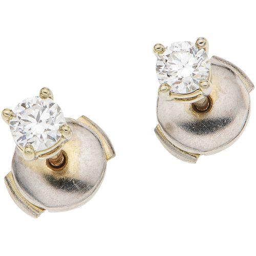 PAIR OF STUD EARRINGS WITH DIAMONDS IN .950 PLATINUM, TIFFANY & CO.  2 Brilliant cut diamonds ~0.40 ct Clarity: VS1-VS2