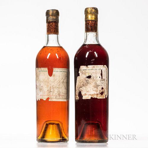 Chateau d'Yquem 1947, 2 bottles