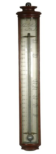 EARLY AMERICAN THERMOMETER BY CHARLES POOL