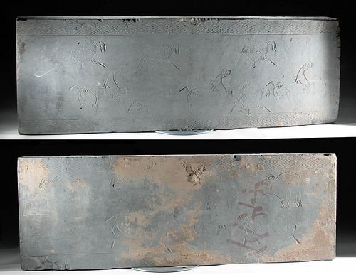 Huge Chinese Han Dynasty Tomb Panels, TL Tested