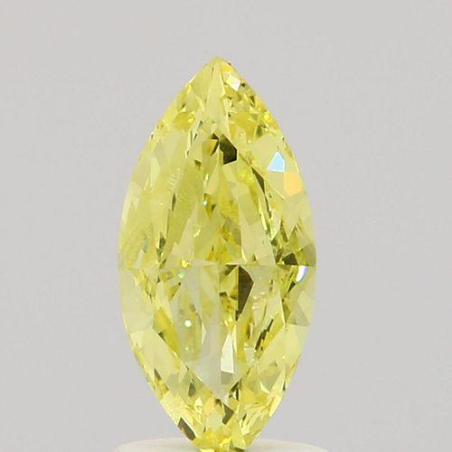 1 ct., Fancy Intense Yellow/VS2, Marquise cut diamond, unmounted, IM-566-001