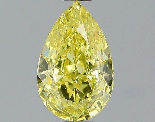1.04 ct., Fancy Intense Yellow/VS2, Pear cut diamond, unmounted, PK1370-05