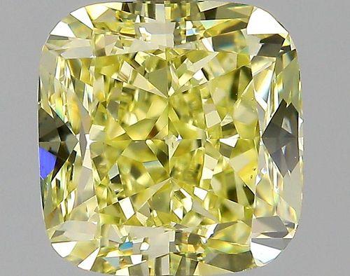 2.27 ct., Fancy Yellow/VS2, Cushion cut diamond, unmounted, PP6482-032