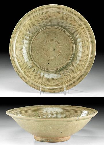 15th C. Vietnamese Annamese / Thai Glazed Pottery Bowl