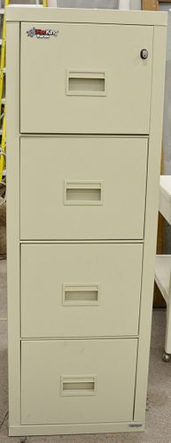 Fire King Fireproof  four drawer file cabinet; height 53 inches.