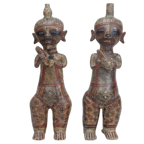 Pair of Pre Columbian Style Figures
