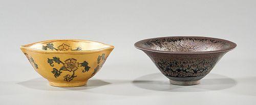 Two Chinese Glazed Ceramic Bowls