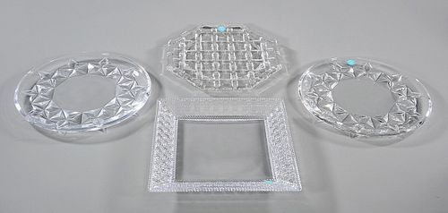 Group of Four Tiffany & Co. Crystal Dishes