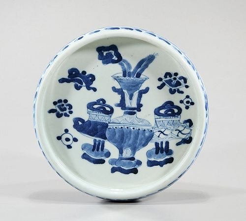 Chinese Blue and White Porcelain Inkstone