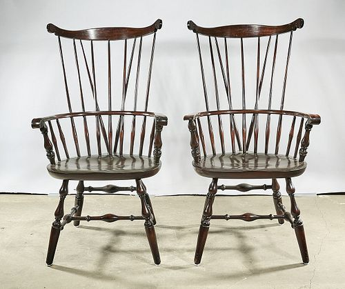 Set of Six Windsor-Style Chairs