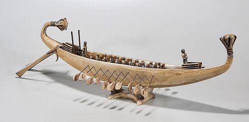 Large Decorative Replica Egyptian Boat