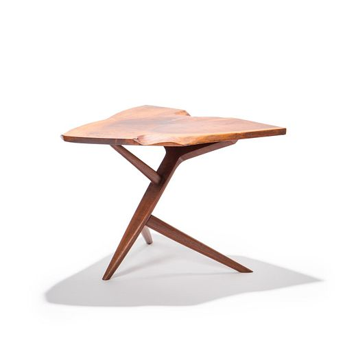 "GEORGE NAKASHIMA ""CONOID"" CROSS-LEGGED SIDE TABLE"