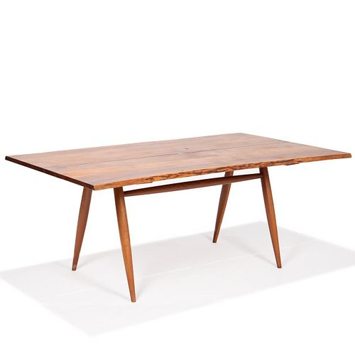 GEORGWear commensurate with age and use. Faint scratches / scuffing to top surface. Scattered nicks / chips to legs / feet. E NAKASHIMA CHERRY TURNED