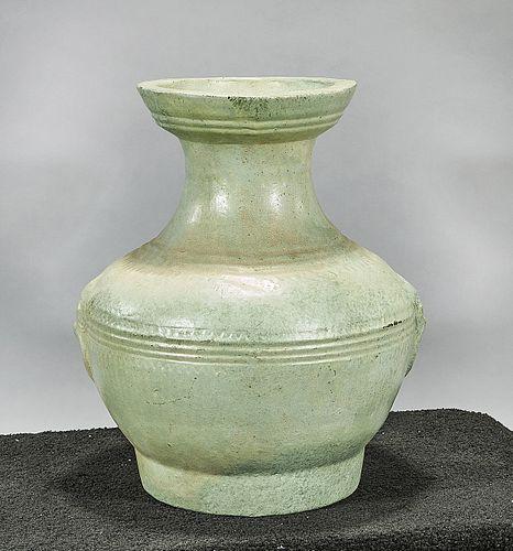 Chinese Green Glazed Ceramic Vase