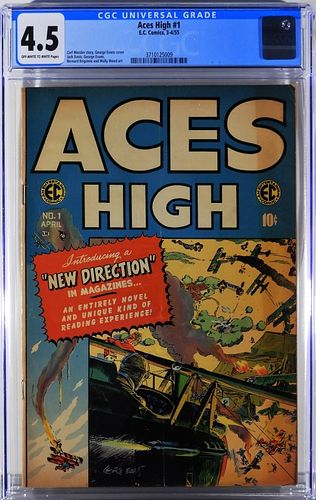E.C. Comics Aces High #1 CGC 4.5