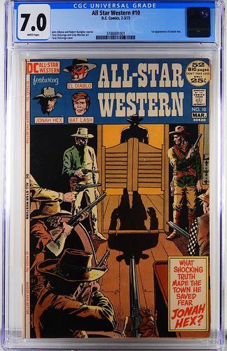 DC Comics All Star Western #10 CGC 7.0