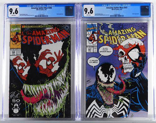 Marvel Comics Amazing Spider-Man #346 #347 CGC 9.6