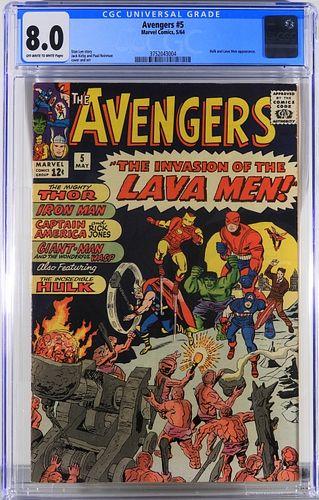 Marvel Comics Avengers #5 CGC 8.0