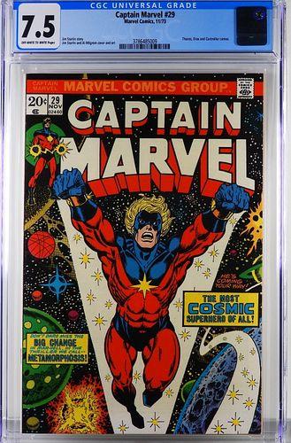 Marvel Comics Captain Marvel #29 CGC 7.5