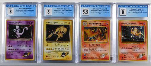 4 Japanese Pokemon Gym 2 Holo CGC Card Group