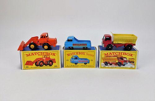 3PC Lesney Matchbox Grit Truck Track Pick-Up Group