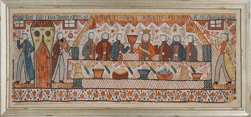 Swedish Folk Art Bonad, circa 1833