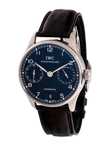 IWC, STAINLESS STEEL REF. 5001 'PORTUGIESER AUTOMATIC' WRISTWATCH