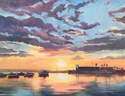 Kay Carlson Sunset Afloat