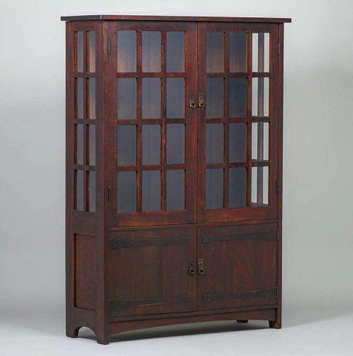 L&JG Stickley Strap-Hinge China Cabinet c1905-1907