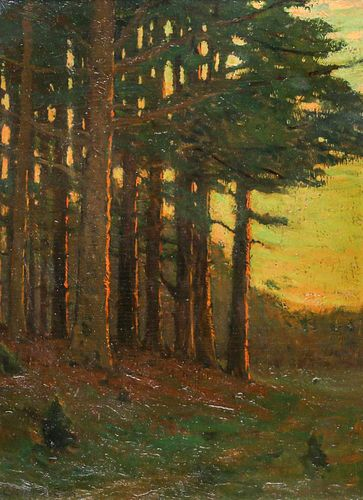 """Charles Warren Eaton Painting """"Entrance to the Woods"""""""