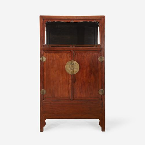 A Chinese Huanghuali and hardwood display cabinet, Lianggegui 19th/20th Century with later alterations