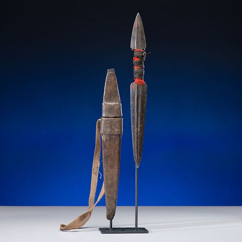 Tlingit Double-Ended Dagger with Sheath