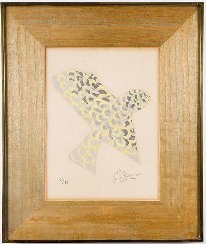 """Georges Braque """"Le Rapace"""" Lithograph, 1963"""