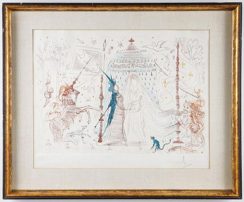 "Salvador Dali ""Gala, Mon Seul Desir"" Etching, 1965"