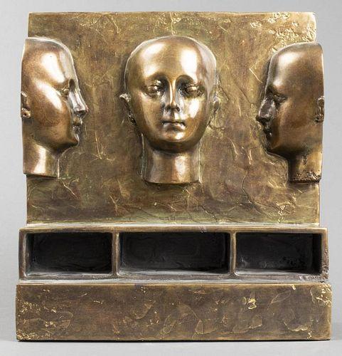 "Robin Parker ""Joseph's Head Set"" Bronze Sculpture"