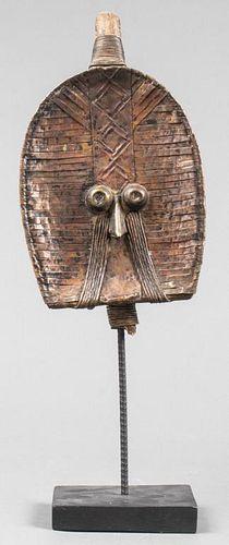 African Kota Metal Wrapped Reliquary Figure, Gabon