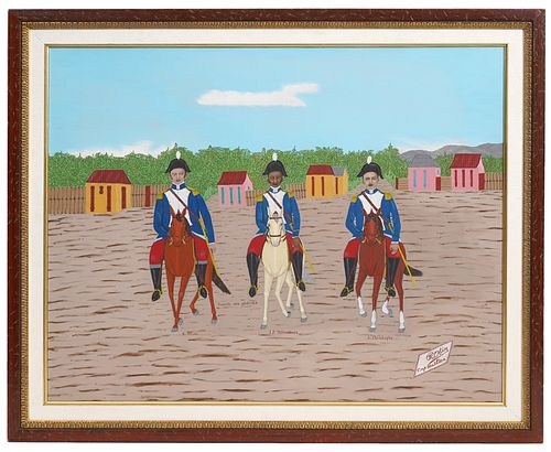 Philome Obin 'Tour of Generals' Oil Painting