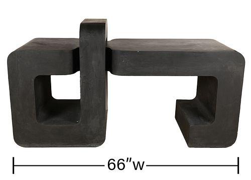 Attr. Karl Springer Sculptural Console Table
