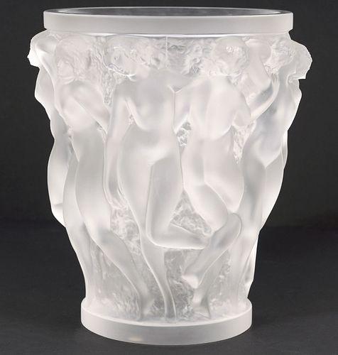 Lalique Bacchantes Crystal Vase