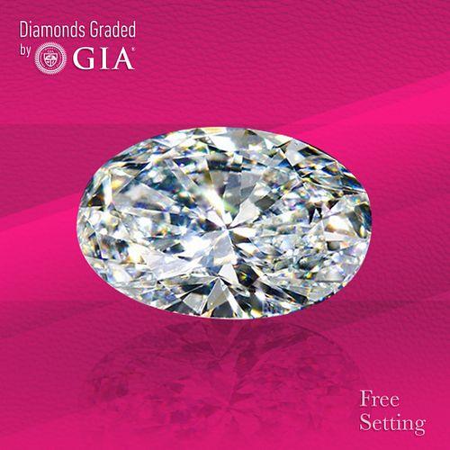 1.07 ct, D/IF, TYPE IIa Oval cut Diamond. Unmounted. Appraised Value: $23,500