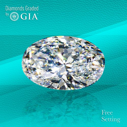 1.01 ct, D/VVS1, TYPE IIa Oval cut Diamond. Unmounted. Appraised Value: $17,900