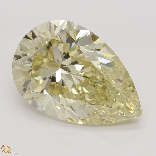 10.18 ct, Natural Fancy Light Brownish Yellow Even Color, VS1, Pear cut Diamond (GIA Graded), Unmounted, Appraised Value: $289,100