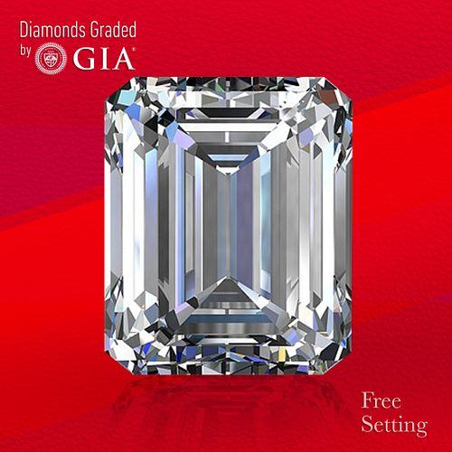 10.68 ct, I/VVS1, Emerald cut Diamond. Unmounted. Appraised Value: $1,045,300