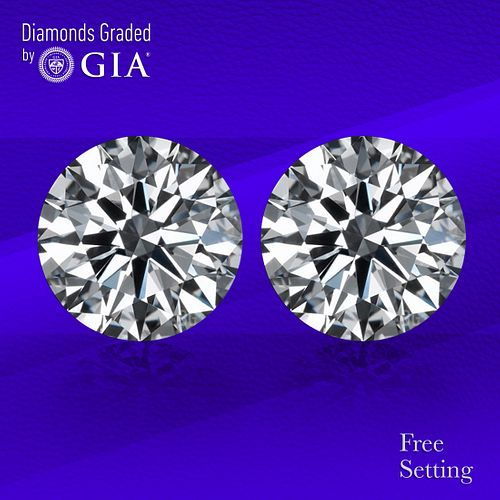 3.00 carat diamond pair TYPE IIa Round cut Diamond GIA Graded 1) 1.50 ct, Color D, IF 2) 1.50 ct, Color D, IF. Unmounted. Appraised Value: $119,200