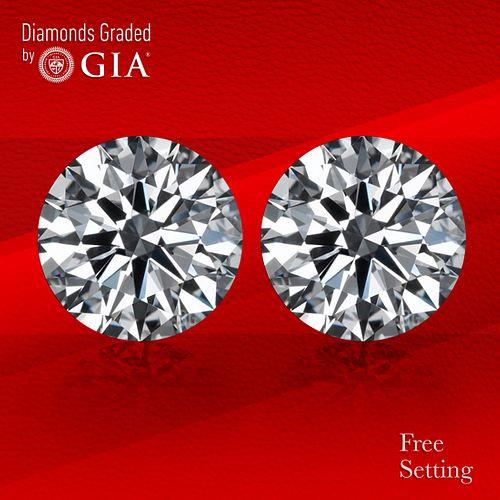 14.01 carat diamond pair Round cut Diamond GIA Graded 1) 7.00 ct, Color F, VS2 2) 7.01 ct, Color F, VS2. Unmounted. Appraised Value: $1,371,400