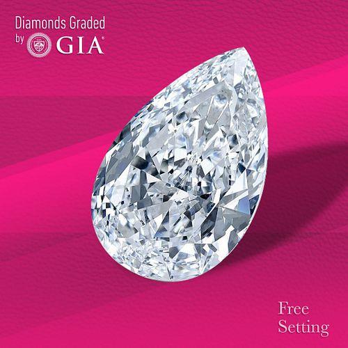 3.01 ct, D/IF, TYPE IIa Pear cut Diamond. Unmounted. Appraised Value: $294,600