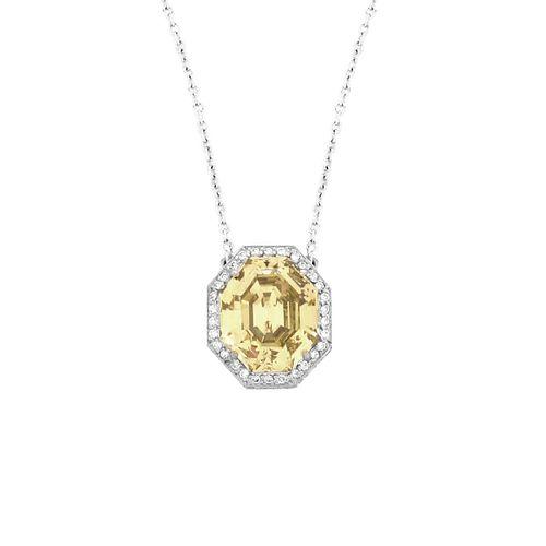 GIA Fancy Yellow Diamond Necklace