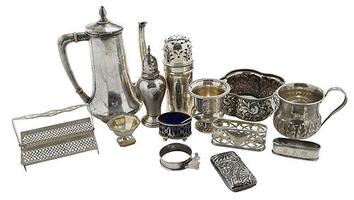 27 Assorted Silver Small Table Items