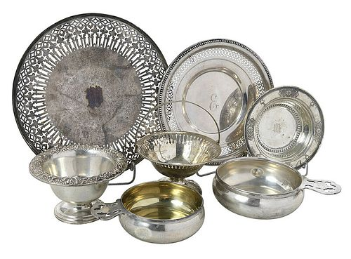 Seven Pieces Sterling Hollowware