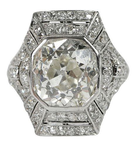 Antique Platinum 5.99ct. Diamond Ring